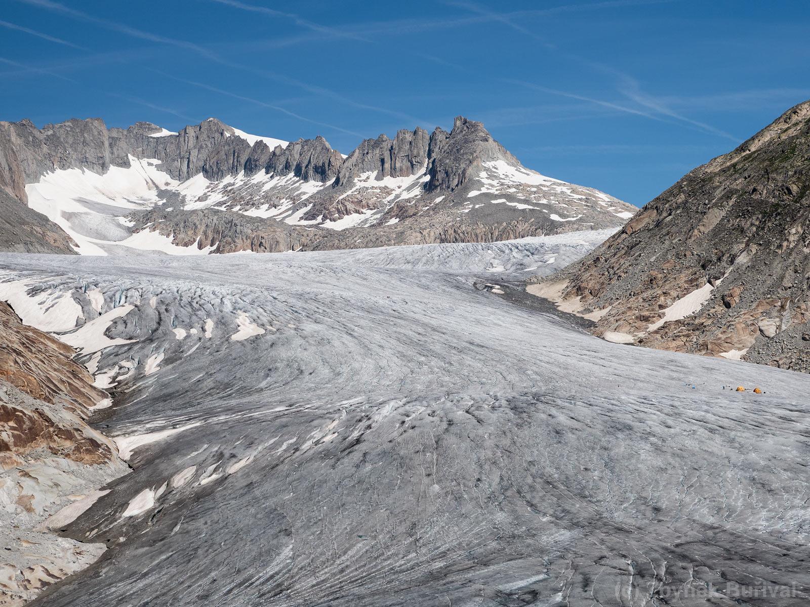 Rhonegletscher, Kanton Wallis, Švýcarsko