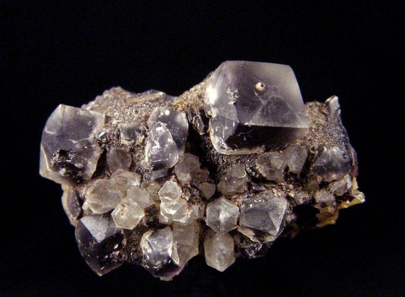 Fluorit, Křemen