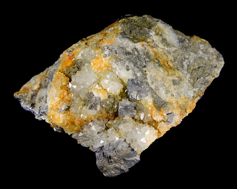 Galenit, Křemen